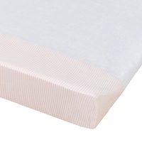 Living Textiles Jersey Change Pad Cover Pink Stripe/Towelling