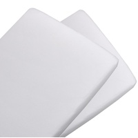 Living Textiles 2-pack Jersey Bassinet Fitted Sheet White