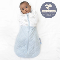 Living Textiles Zip Up Swaddle [2.5TOG] 4 - 12m Mason Elephant
