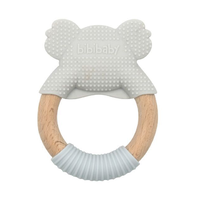 BibiBaby Teething Ring Blinky Koala Grey and Grey
