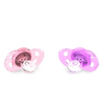 Twistshake 2x Baby Dummy Pacifier 6+m Pastel Pink Purple