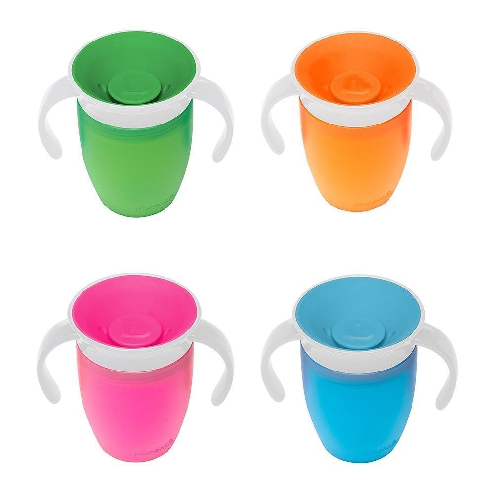 Munchkin Miracle Non-Spill 360 Degree Seal Proof Valve Toddler Trainer Cup 207ml Random Colour