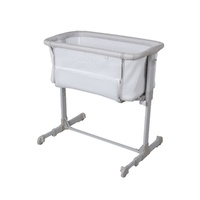 Childcare Doze Bedside Sleeper Co Sleeping Baby Bassinet Silver