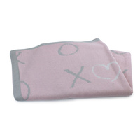 Bubba Blue Bamboo Knit Baby Blanket Pink Bloom