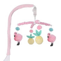 Lolli Living Cot Musical Mobile Flamingo