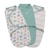 Summer Infant - Original Swaddle Small – Sketchy Safari – 3PK