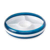 Oxo Tot Divided Plate Navy