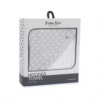 Bubba Blue Polka Dots Baby Hooded Towel Grey