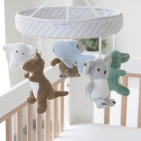 Bubba Blue Aussie Animals Musical Cot Mobile (with room thermometer)