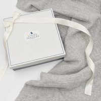 Living Textiles Merino Wool Pram Blanket Heather Grey