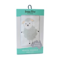 Bubba Blue Zoo Animals Sheep Muslin Swaddle Wrap