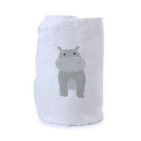 Bubba Blue Zoo Animals Hippo Muslin Swaddle Wrap