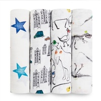 Aden + Anais colour pop classic 4-pack swaddle