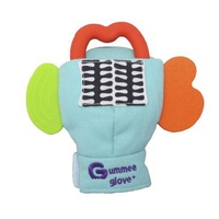 Gummee Glove Plus Teether Teething Mitten Turquoise 6-12 Months