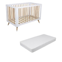 Bebecare Sorrento Letto Cot & Change Table Centre White Espresso