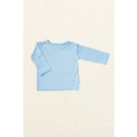 Boody Baby Organic Bamboo Long Sleeve Top - Sky 3-6 Months