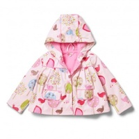Penny Scallan Girl Kids Raincoat Chirpy Bird Size 5-6
