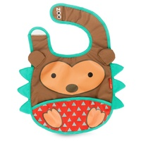 Skip Hop Zoo Tuck Away Bib Hedgehog