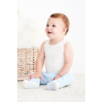 Boody Baby Organic Bamboo Singlet - Chalk 0-3 Months