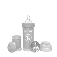 Twistshake Anti-Colic 260ml Baby Milk Bottle Pastel Grey