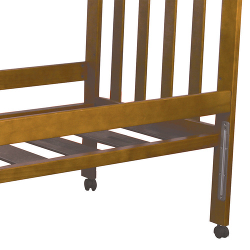 Childcare Cot Accessory Bed Rail - Chestnut